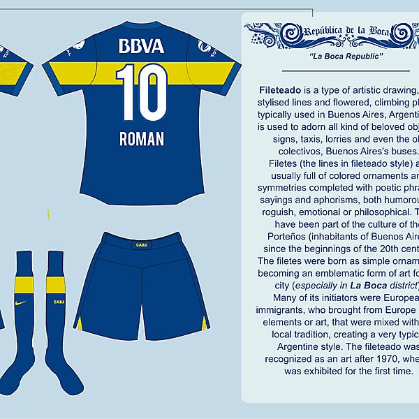 Boca Jrs Home Kit 04