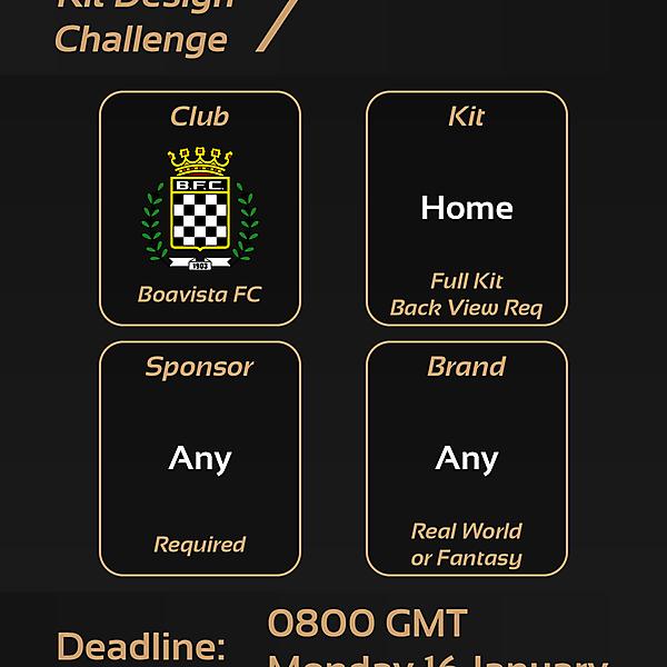 Kit Design Challenge: 7 - Boavista FC Home Kit