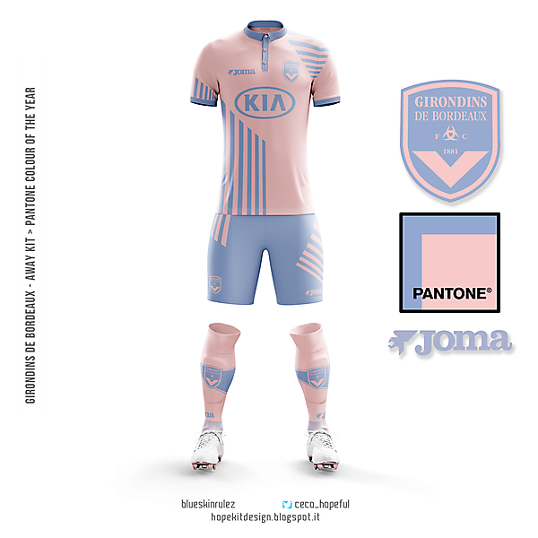 Pantone away kit colour of the year