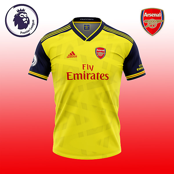 Arsenal Yellow shirt consept