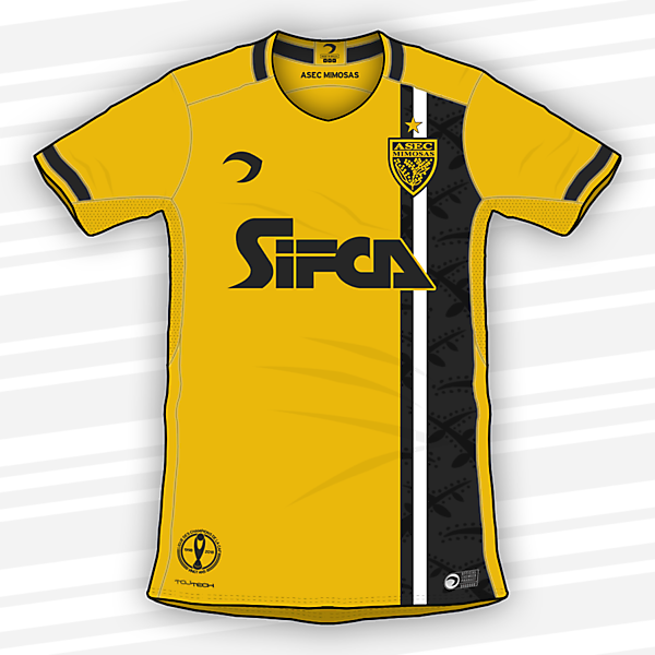 ASEC Mimosas   Home jersey