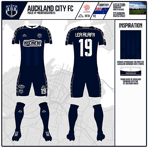 Auckland City Home Kit | KOTW 51 | made by @bluehorizonkits