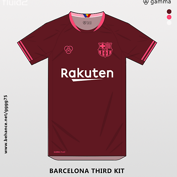 barcelona third jersey