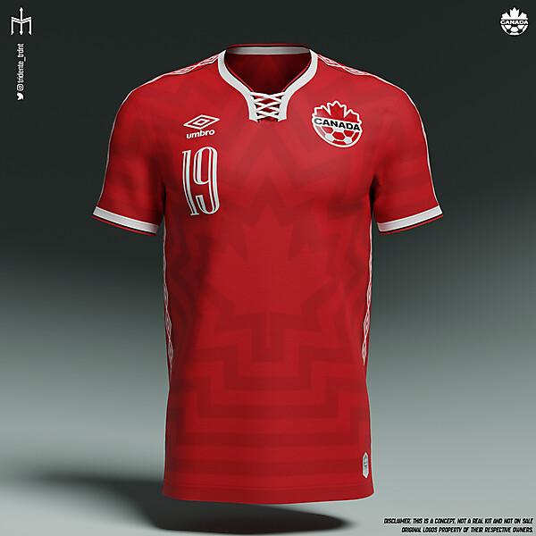Canada Football National Team X Umbro | Home kit | KOTW