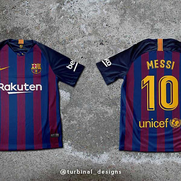 FC Barcelona Home Kit Concept