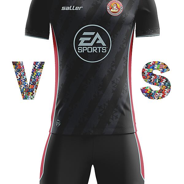 FC Santa Claus Away kit with Saller