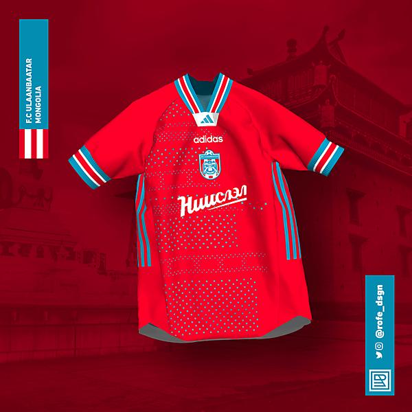 FC Ulaanbaatar Home Kit x Adidas 2020 By @rofe_dsgn.