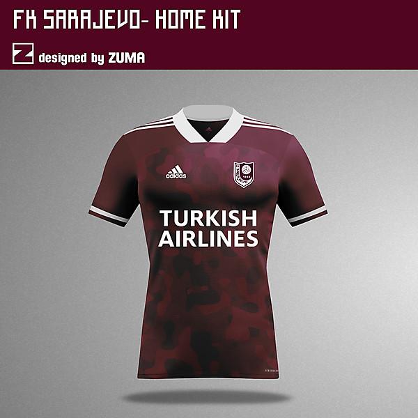 FK Sarajevo |  Adidas Home Kit
