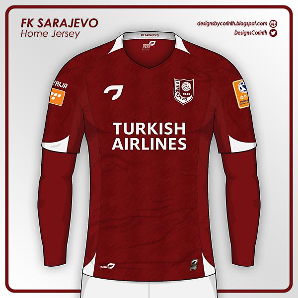 FK Sarajevo | Home Jersey