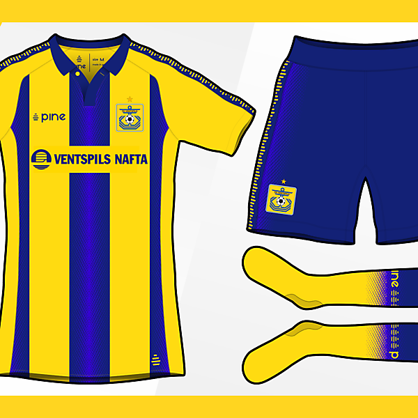 FK Ventspils Home Kit by Pine