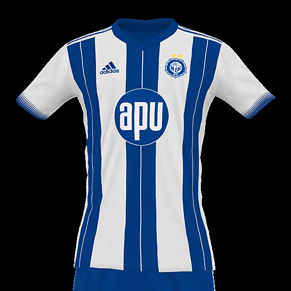 HJK Helsinki 2021 adidas home kit by @feliplayzz