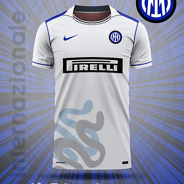 Inter away concept-Snakes on a plain-white shirt!