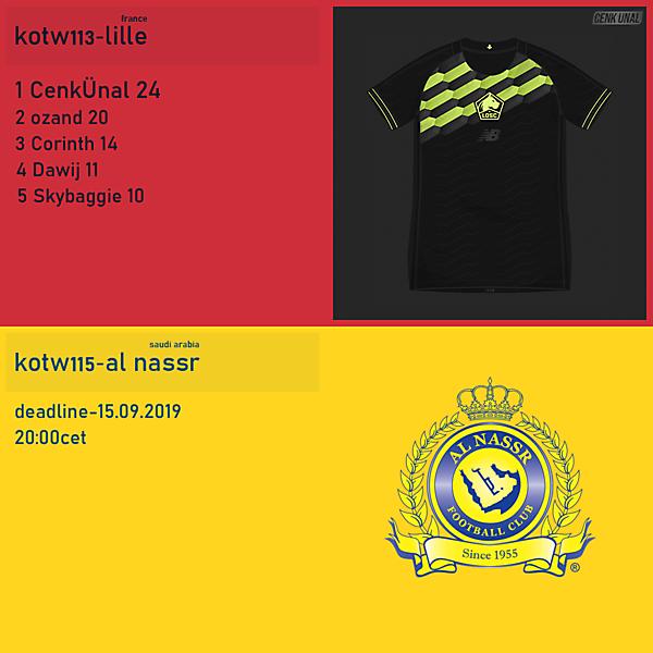 KOTW113 / KOTW115