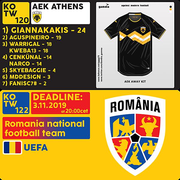 KOTW 120 RESULTS / KOTW 122 - ROMANIA NT