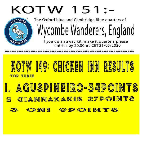 KOTW 151: Wycombe Wanderers FC