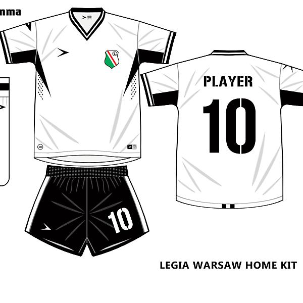 legia warsaw home kit