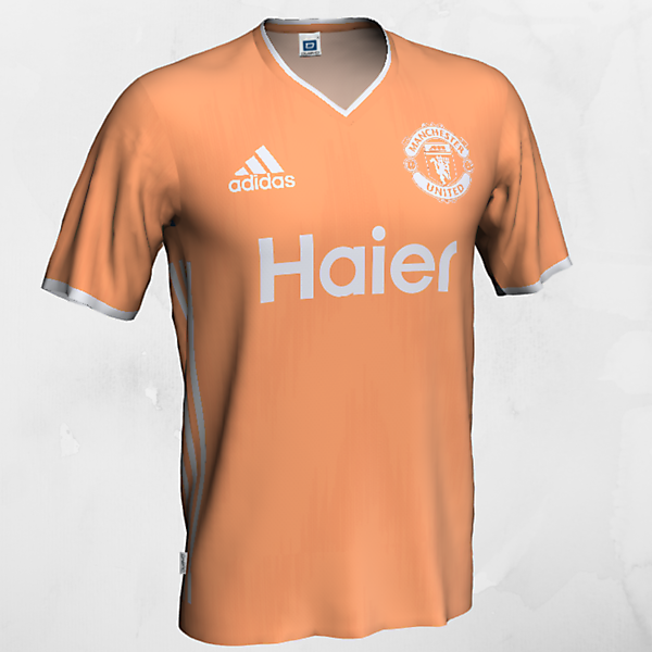 Manchester United - Away (peach and light gray)