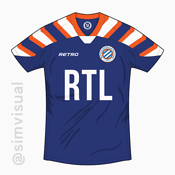 Montpellier HSC Home Shirt - Retro