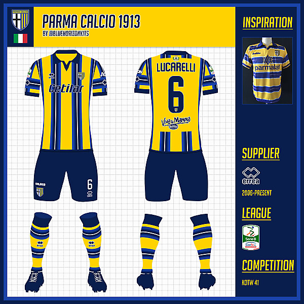 Parma Calcio 1913 Away Kit- @bluehorizonkits