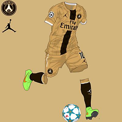 PSG x Air Jordan XVI Ginger (3rd kit)