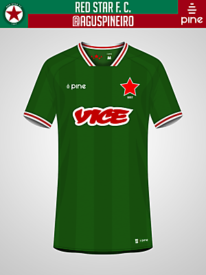 Red Star F. C. Home Kit by Pine