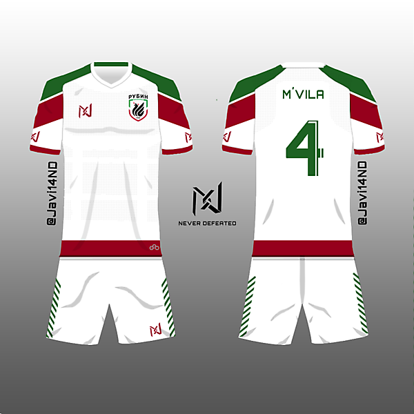 Rubin Kazan Away Kit