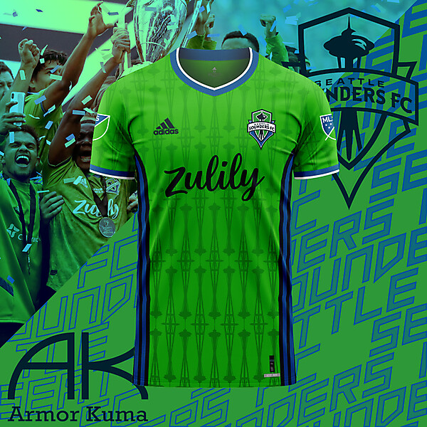 Seattle Sounders Adidas Home Kit