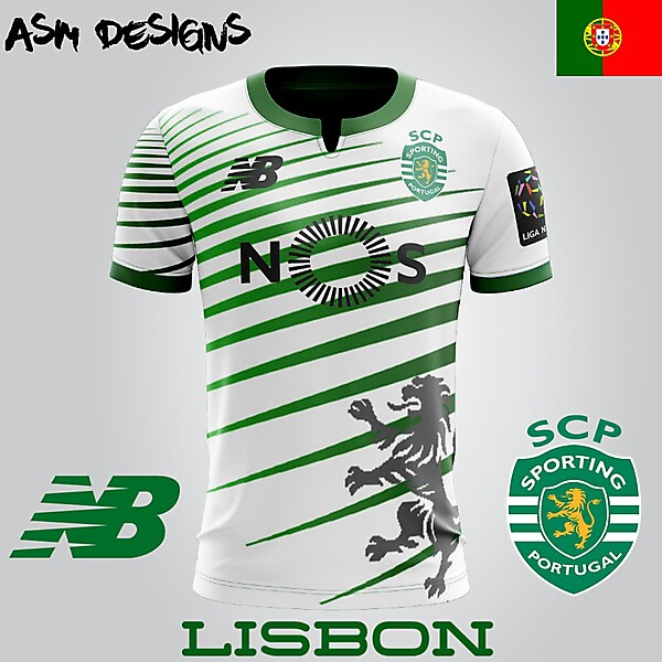 Sporting CP New Balance  2018 Home Kit