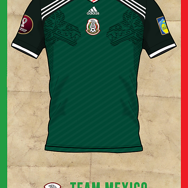 Team Mexico Home shirt Qatar 2022
