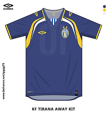 tirana away kit