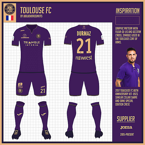 Toulouse FC Home Kit