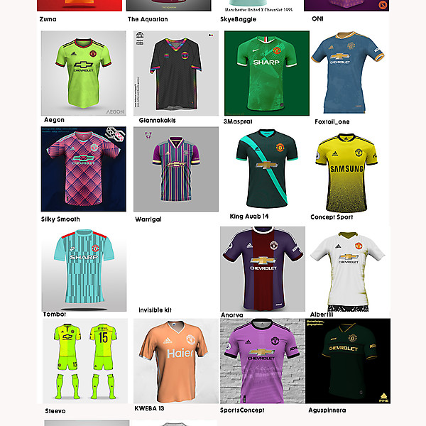VOTING: Manchester United unused away colours challenge.