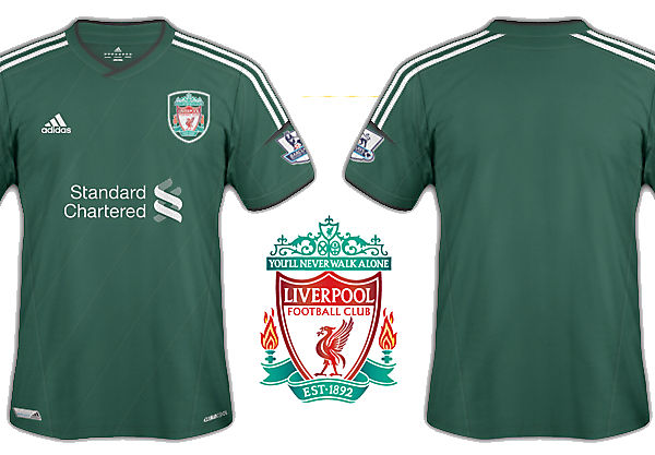 Liverpool kits 2012-13