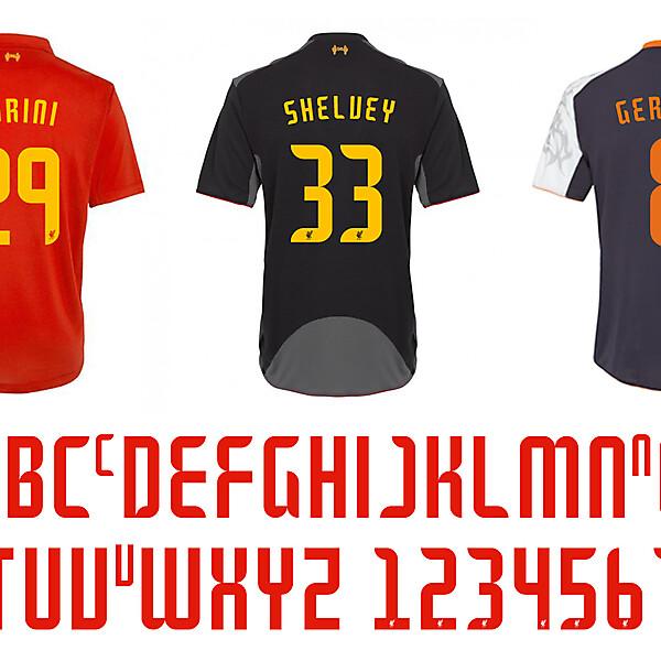 liverpool typeface 2012-2013
