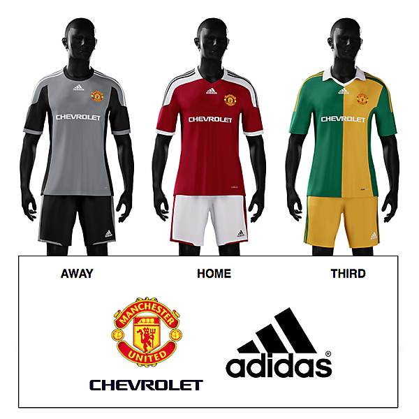 Manchester United 2015/16 Adidas Kit
