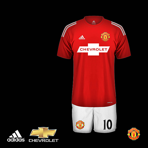 Manchester United adidas home kit 2015-1016