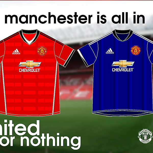 Manchester United Home y Away kits - adidas 2015/16
