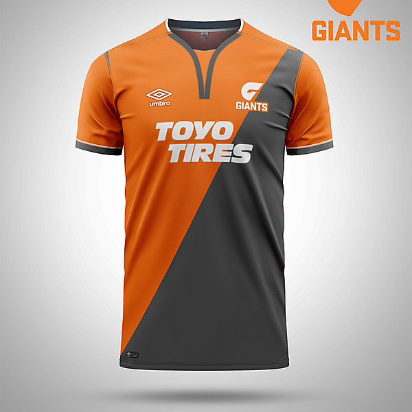 Greater Western Sydney Giants AFL as a soccer kit