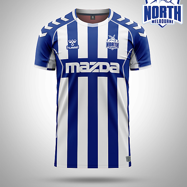 North Melbourne AFL as a soccer kit