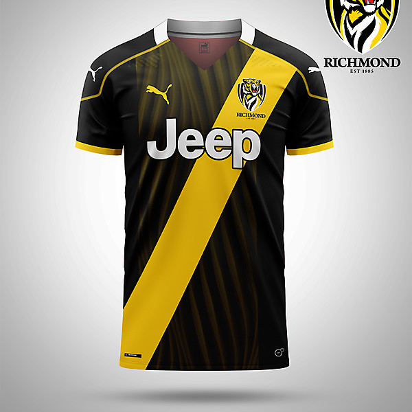 Richmond AFL as a Soccer kit