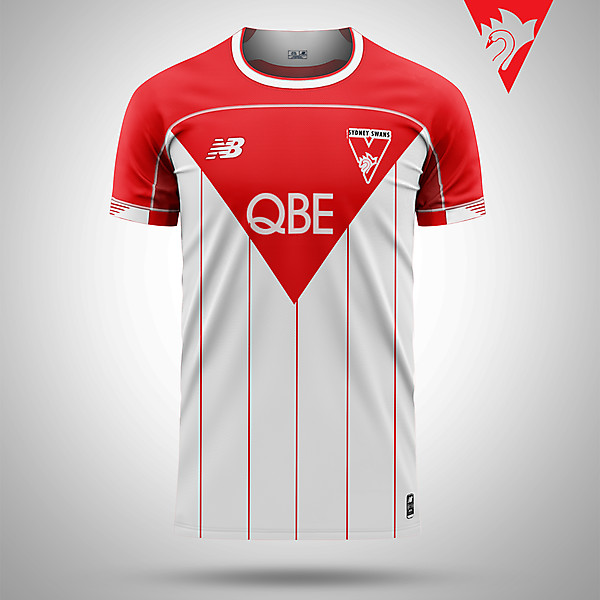 Sydney Swans AFL as a soccer shirt
