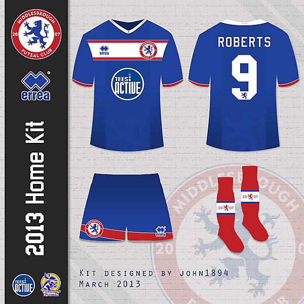 Middlesbrough Fustal 2013 Home Kit