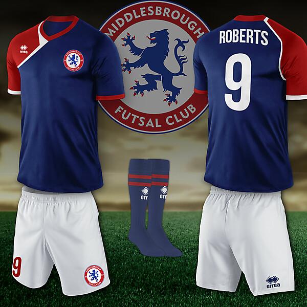 Middlesbrough Futsal 2013 Home Kit