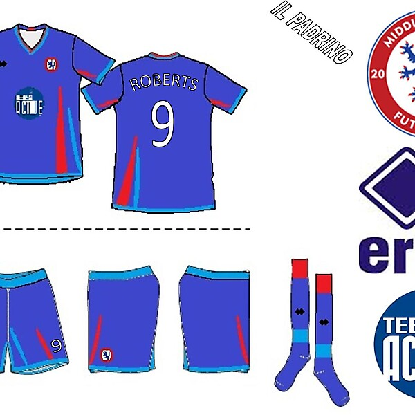 Middlesbrough Futsal Club Errea Home Kit