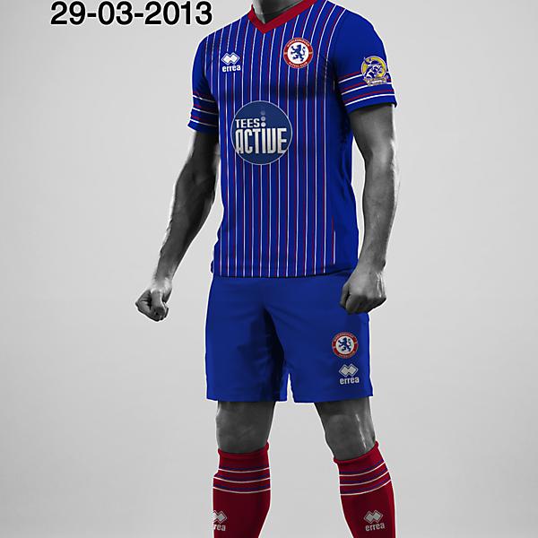 Middlesbrough 2013 Errea - Complete kit