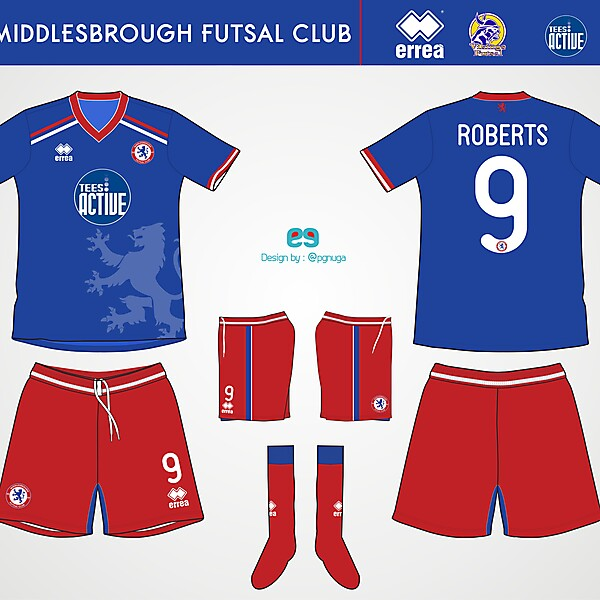 Errea Middlesbrough Futsal Club Home Kit