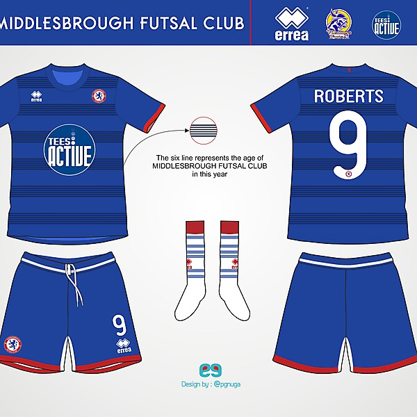 Errea Middlesbrough Futsal Club Home Kit #3
