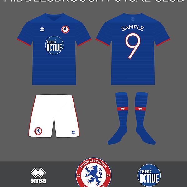 Middlesbrough Futsal Club Erreà Home Kit