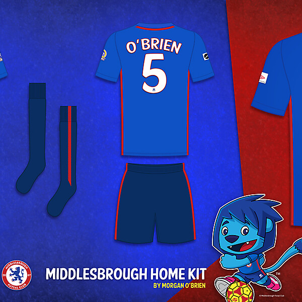 Middlesbrough Home Kit 003 by Morgan OBrien