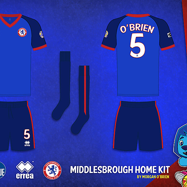Middlesbrough Home Kit 004 by Morgan OBrien